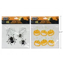 Halloween Zipper Seal Cello Candy Bags ~ 25 per pack