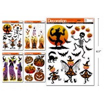 Halloween Holographic Window Clings ~ 4 assorted