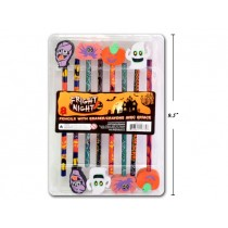 Halloween Pencils w/Eraser Tops ~ 8 per pack