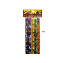 Halloween Pencils w/Colored Erasers ~ 10 per pack