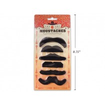 Halloween Assorted Moustaches ~ 6 per pack