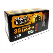 Halloween Indoor LED Orange Light Set ~ 35 per string