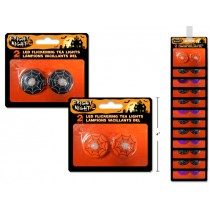 Halloween Flickering LED Printed T-Lite Candles ~ 2 per pack