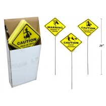 "Halloween Plastic Corregated Yard Signs ~ 28"" Tall"
