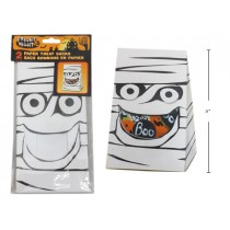 Halloween Mummy Treat Sack with Window ~ 2 per pack