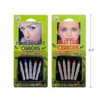 Halloween Pearlescent / Glitter No-Mess Make-Up Crayons ~ 5 per pack
