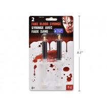 Halloween Fake Blood Syringe ~ 2 per pack
