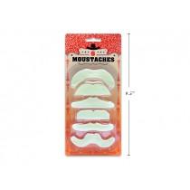 Halloween Glow-In-The-Dark Moustaches ~ 6/pk