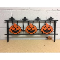 Halloween Interlocking Pumpkin Fence