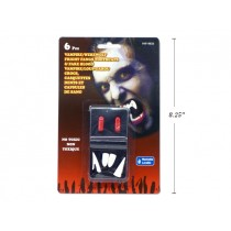 Halloween Vampire/Werewolf Fright Fang Toothcaps & Fake Blood