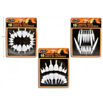 Halloween Pearly White Pumpkin Teeth ~ 18 pieces