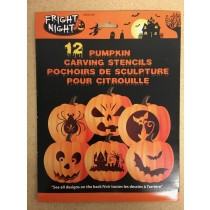 Halloween Pumpkin Carving Stencils ~ 12 per pack