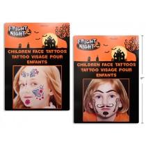 Halloween Kids Costume Face Tattoos