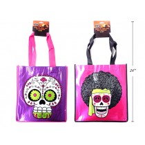 "Halloween Printed Metallic Foil Non-Woven Day of the Dead Trick or Treat Bags ~ 13""L x 21.5""W"