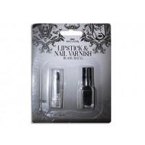 Halloween Matte Black Lipstick & Nail Varnish Set
