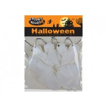 Halloween 3D Ghost Garland with Googly Eyes - 11 pieces ~ 6' Long