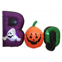 "Halloween 6-LED Light Up Inflatable 3D ""BOO"" ~ 4'"