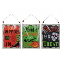 "Halloween MDF Frame with Saying ~ 5-7/8"" x 7-7/8"""