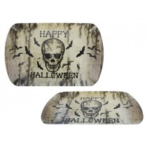 "Halloween Rectangle Skull Tray ~ 15.25"" x 9-5/8"""