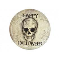 """Halloween Round Skull Tray ~ 13-5/8"""""""