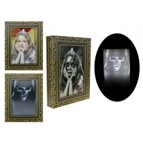 Halloween LED Sound Activated Lenticular Portrait ~ Battery Operated