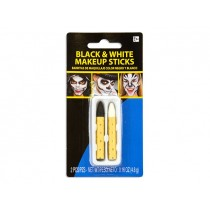 Halloween Black & White No-Mess Make-Up Crayons ~ 2 per pack