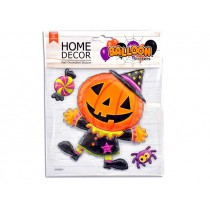 Halloween 3D Foil Balloon Pumpkin Man Room Decor Sticker