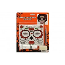 Halloween Day of the Dead Face Tattoo Make Up Set