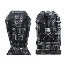 Halloween Polyfoam Tombstone with Crystal Eyes ~ 4 assorted