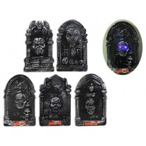 Halloween B/O LED Color Changing Polyfoam Tombstone with Crystal Eyes ~ 3 assorted