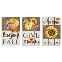 """Harvest Embossed Metal Old Fashion Signs ~ 15.75"""" x 11"""""""