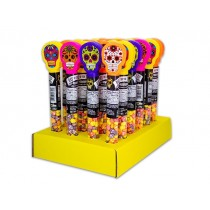 Halloween Day of the Dead Candy Tubes with Skull Candy