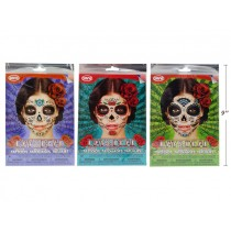 Halloween Day of the Dead Costume Face Tattoos