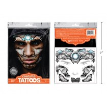 Halloween Glow in the Dark Cyborg Face Tattoos