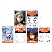 Halloween Metallic Face Tattoos