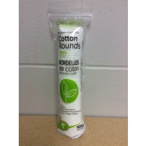Delon Premium Cosmetic 100 % Pure Cotton Rounds ~ 100 per sleeve