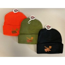 Toque w/Thinsulate Lining & Moose Embroidery ~ Assorted Colors