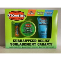 O'Keeffe's Value Pack ~ Cooling Lip Repair, Working Hands, Healthy Feet