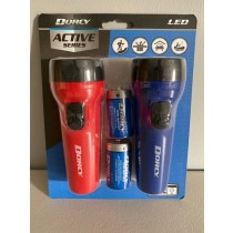 Dorcy LED Plastic Flashlight Combo Pack