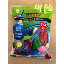 Value Pack Assorted Balloons ~ 1/4lb pack