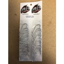 Eagle Claw Plain Shank Offset Nickel Hooks - Size 6/0 ~ 1 per pack / 24 per card