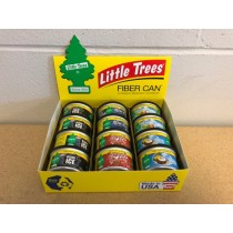 Little Tree Fiber Can Air Fresheners ~ Display of 12