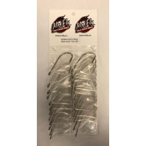 Eagle Claw Plain Shank Offset Nickel Hooks - Size 10/0 ~ 1 per pack / 24 per card