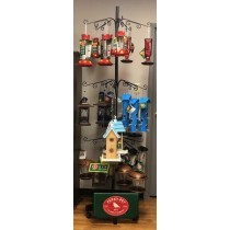 Perky-Pet Bird House & Hummingbird Feeder Display with 58 Feeders