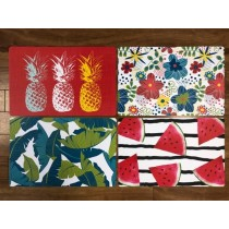 Printed Placemats - Tropical ~ 4 assorted