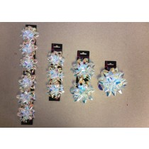 Iridescent Star Bows ~ 3 assorted sizes