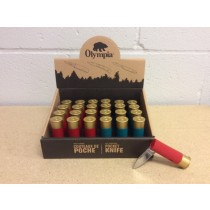 Shotgun Shell Pocket Knife ~ 24 per display
