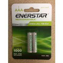 "EnerStar ""AAA"" Rechargeable Ni-cd Batteries ~ 2/pk"