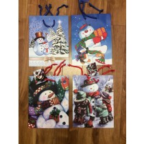 Medium Christmas Gift Bags ~ Snowman