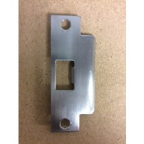 Commercial Lock / Lever Set Strike Plate ~ Satin Chrome Finish